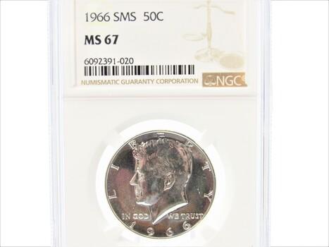 1966 Kennedy Half Dollar SMS MS 67 NGC