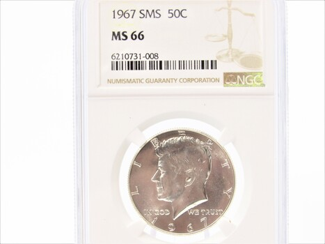 1967 Kennedy Half Dollar SMS MS 66 NGC