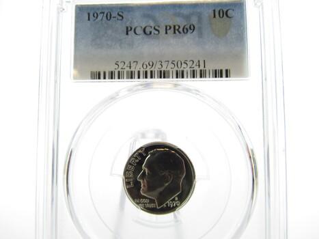1970-S Roosevelt Dime PCGS PR69 (UU)