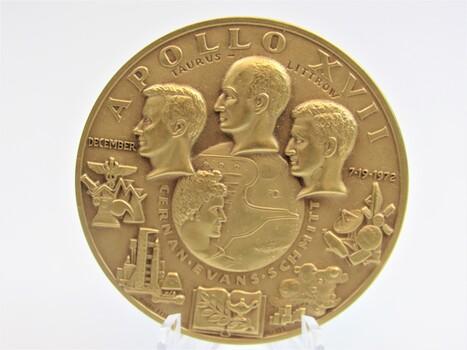 1972 Bronze Apollo XVII Art Medal Coin (022)