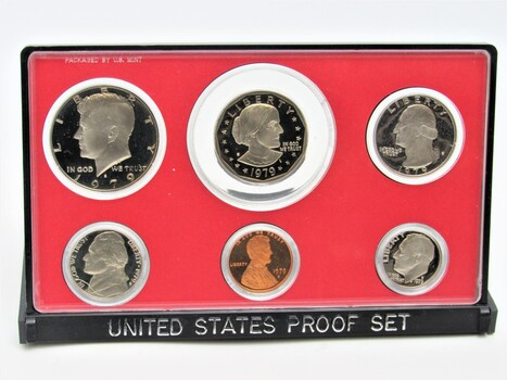 1979 6pc United States Proof Set Coins with Original Packaging Type I