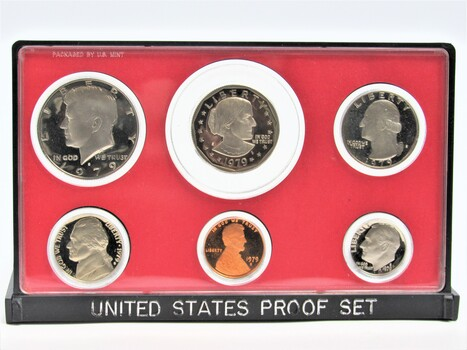 1979 6pc United States Proof Set Coins without Original Packaging (003)
