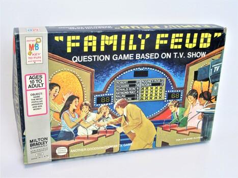 1980s Vintage Board Game Family Feud Bradley