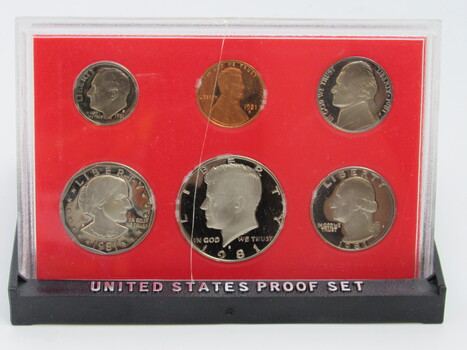 1981 6pc United States Proof Coin Set With Original Packaging (021)