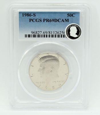 1986-S Kennedy Half Dollar PCGS PR69DCAM Proof