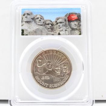 1991-D Mount Rushmore 50c PCGS MS69