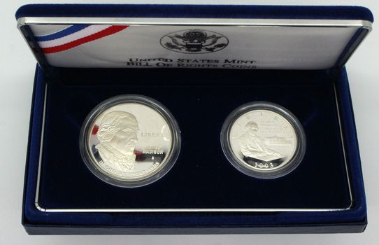 1993 Bill of Rights Comm. Two-Coin Silver/Clad Proof Set