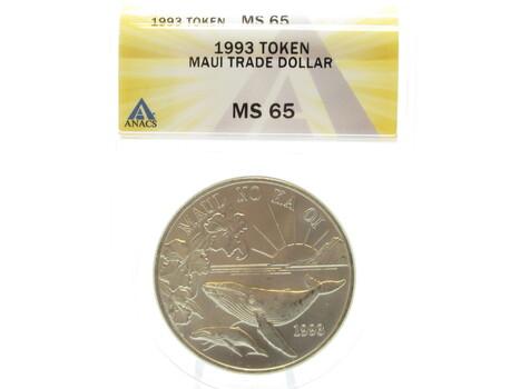 1993 Token Maui Hawaii Coin MS65 ANACS