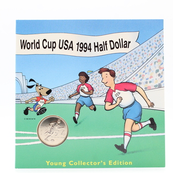 1994-D Uncirculated Wold Cup USA Commemorative Clad Half Dollar Coin