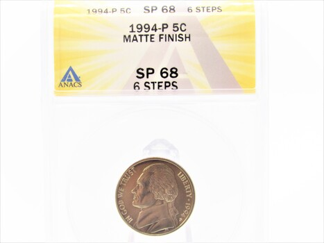 1994-P Jefferson Nickel Matte Finish SP68 6 Steps ANACS (105)