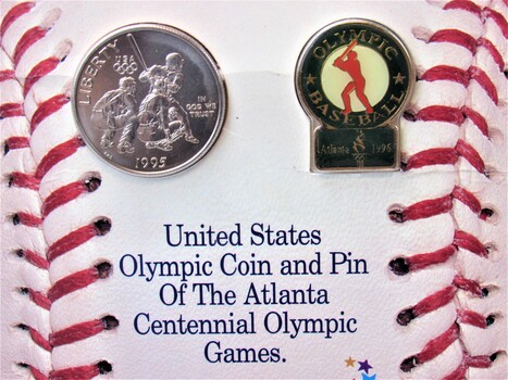 1995 US Olympic Coin & Pin of The Altana Centennial Olympic Games (002)