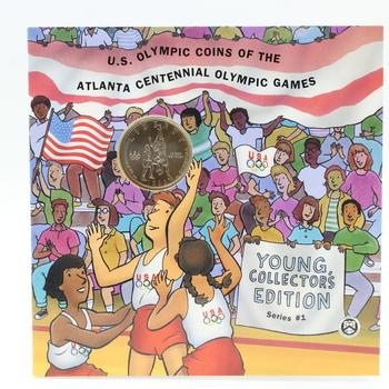 1995-S Uncirculated Clad Half Dollar Basketball Coin U.S. Olympic Games Atlanta