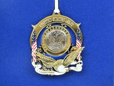 1997 United States Mint Uncirculated Washington Quarter Ornament with Box & COA