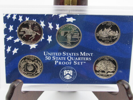 1999 State Quarter Mint Proof Set Delaware Pennsylvania New Jersey Georgia Connecticut