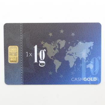 1g 999.9 Fine Gold Bar Card Karat Gold Corp.