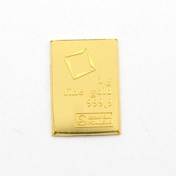 1g 9999 Fine Gold Bar Valcambi Suisse