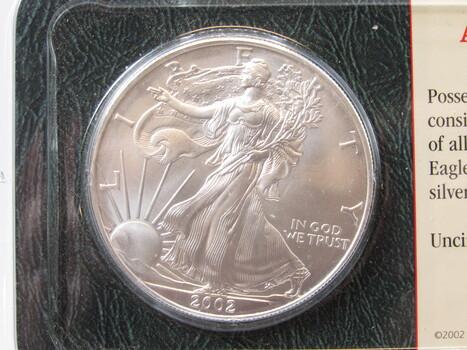2002 Silver American Eagle Uncirculated (25)