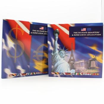 2002 State Quarter & Euro Coin Collection - 17 Coin Set