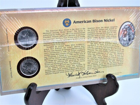 2005 Westward Journey 2pc Bison Nickel Set Sealed With COA