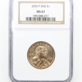 2005-P SMS Sacagawea $1 NGC MS 67 (217)