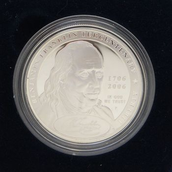 2006 Benjamin Franklin Founding Father Proof Silver Dollar