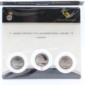 2010 3-Coin Yosemite America the Beautiful 25c Set