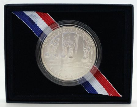 2010 American Veterans Disabled for Life Comm. Unc. Silver Dollar