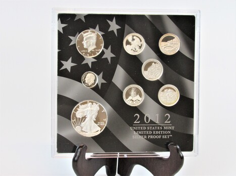 2012 United States Mint Limited Edition Silver Proofs Box Set & COA