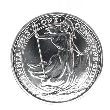 2013 1 oz Fine Silver Britannia 2 Pounds Snake Rim