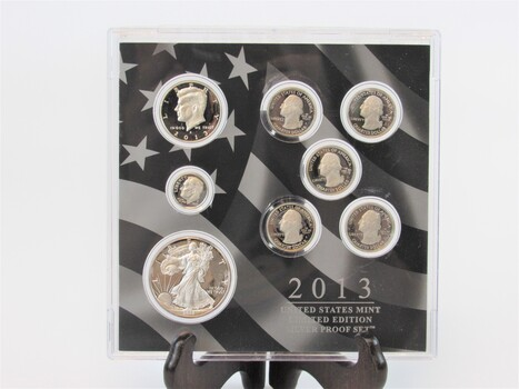 2013 United States Mint Limited Edition Silver Proofs Box Set & COA