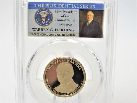 2014-S $1 President Harding Coin PCGS PR70 (042)