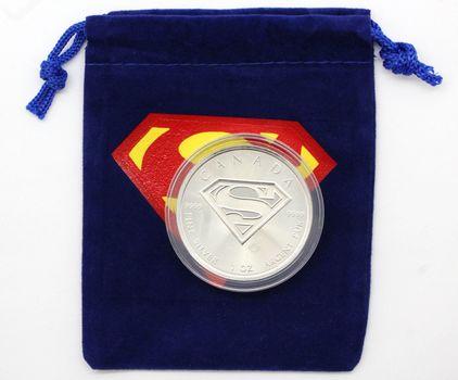 2016 Superman 1 oz. Canadian Silver 5 Dollar Coin