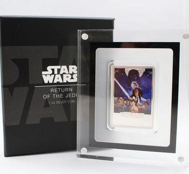 2017 1 oz. Fine Silver Star Wars Return of the Jedi Colored $2 Proof in Slab