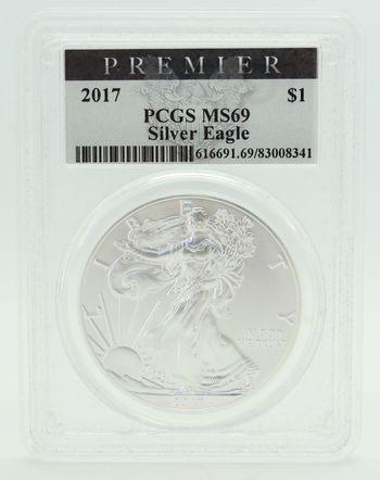 2017 $1 Silver Eagle PCGS Premier MS69