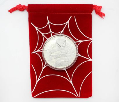 2017 Marvel Spiderman Tuvalu 1 oz. Silver Dollar BU