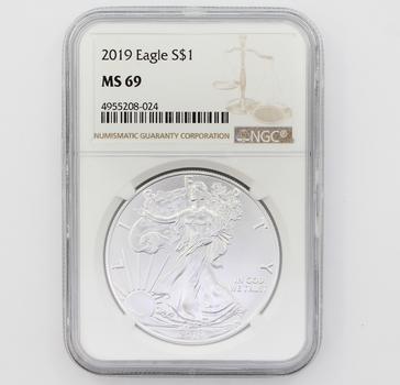 2019 $1 Silver Eagle MS 69 NGC (024)