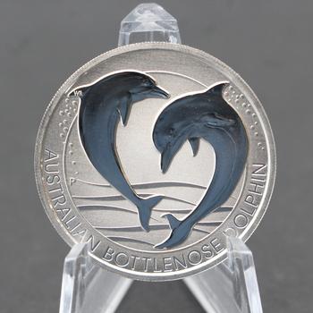 2019 1.5 oz. 9999 Fine Silver Australian Bottlenose Dolphin 2 Dollars