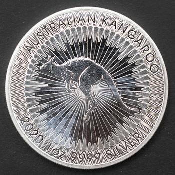 2020 1 oz 9999 Fine Silver Australian Kangaroo 1 Dollar Coin
