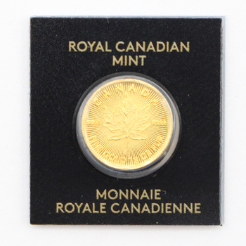 2020 1g 9999 Fine Gold Canadian Maple Leaf Round