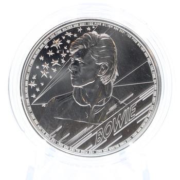 2021 1 oz. 999 Fine Silver David Bowie Commemorative 2 Pounds Coin