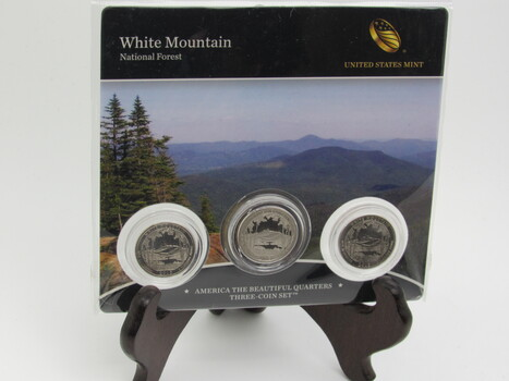 3pc Quarter Mint Set America the Beautiful Sealed White Mountain