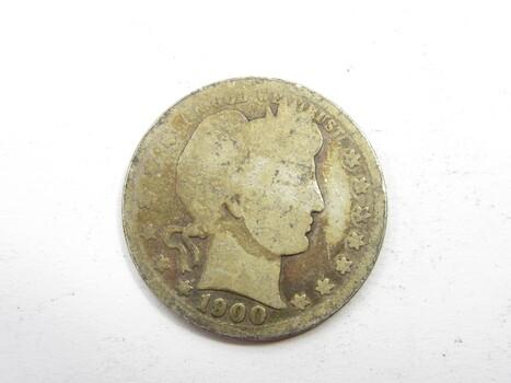 90% Silver 1900-P Barber Quarter (188)