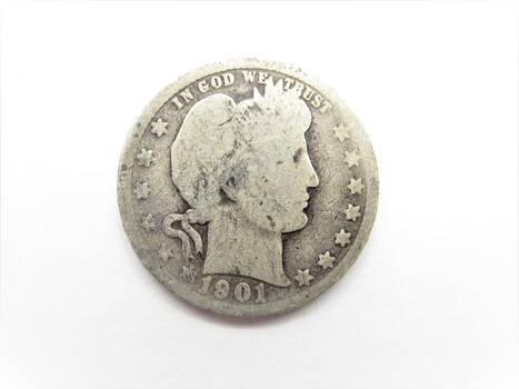 90% Silver 1901-P Barber Quarter (59)