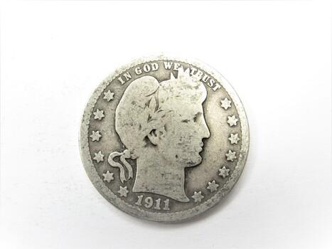 90% Silver 1911-P Barber Quarter (154)