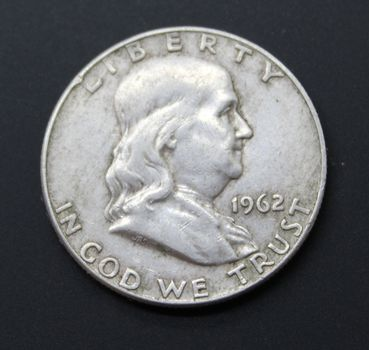 90% Silver 1962 Franklin Half Dollar