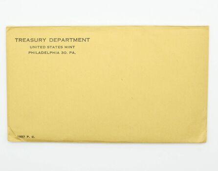 Better Date 1957 Silver Unopened (Envelope Still Sealed) U.S. Proof Set - May Contain Franklin Half Dollar Worth Up to $15,000
