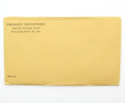 Better Date 1959 Silver Unopened Envelope Still Sealed U.S. Proof Set -May Contain DCAM Franklin Half Dollar Worth Up to $35,000