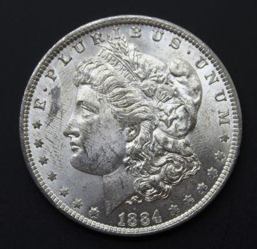 BU 1884-O Silver Morgan Dollar