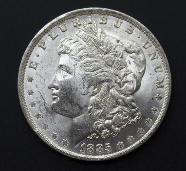 BU 1885-O Silver Morgan Dollar