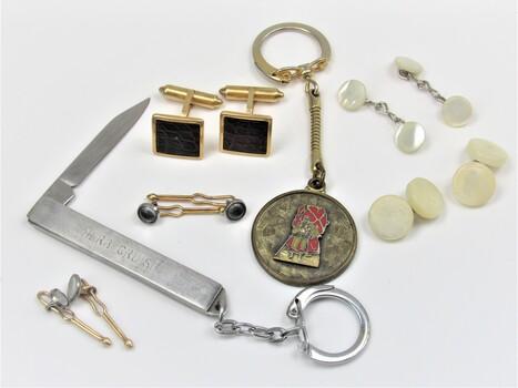 Bulk Lot of Men's Accessories Pocket Knife Cuff Links Etc. Come Look!